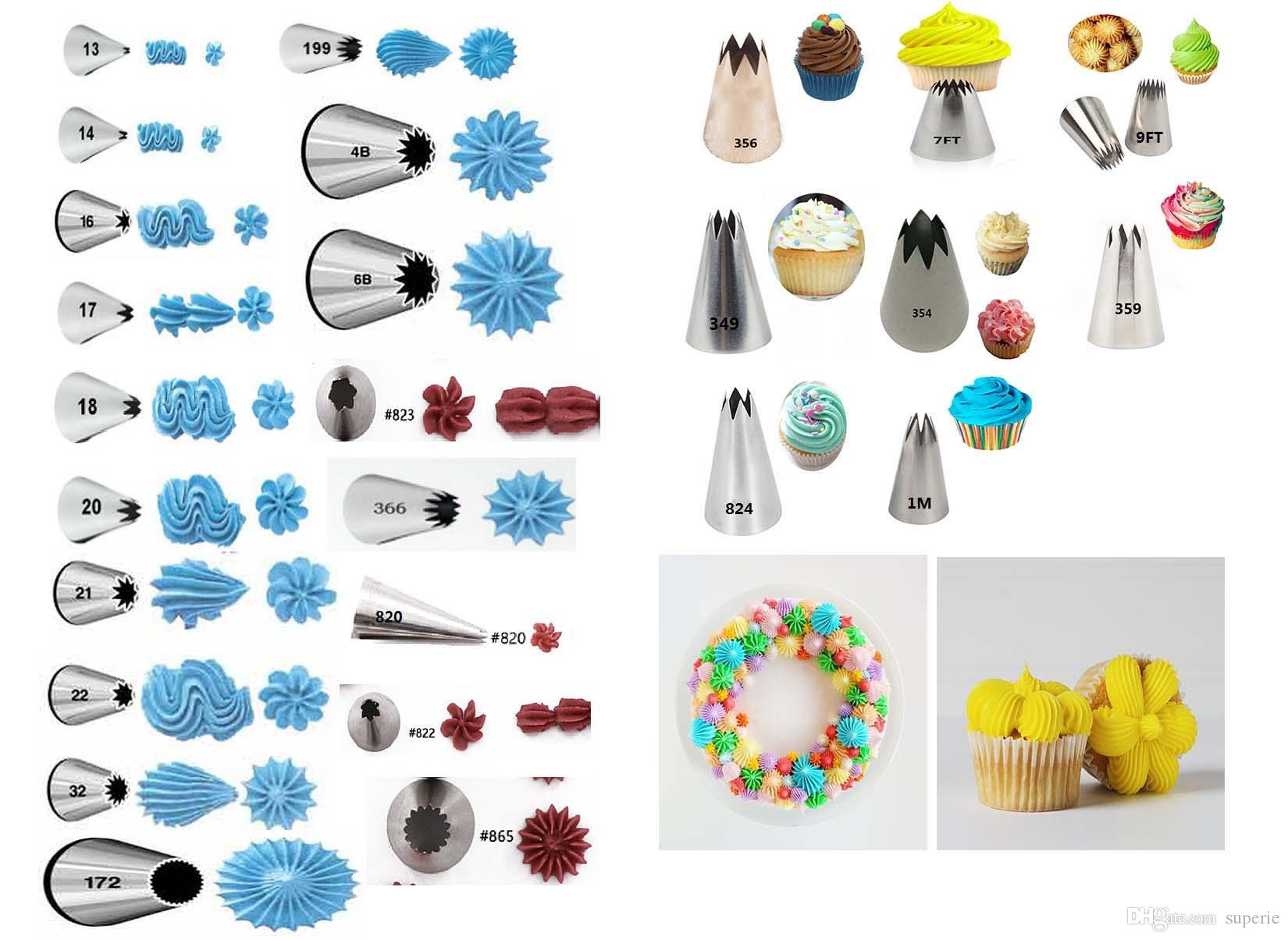 Open Star Icing Tip Nozzle Cupcake Decoration Cake Baking