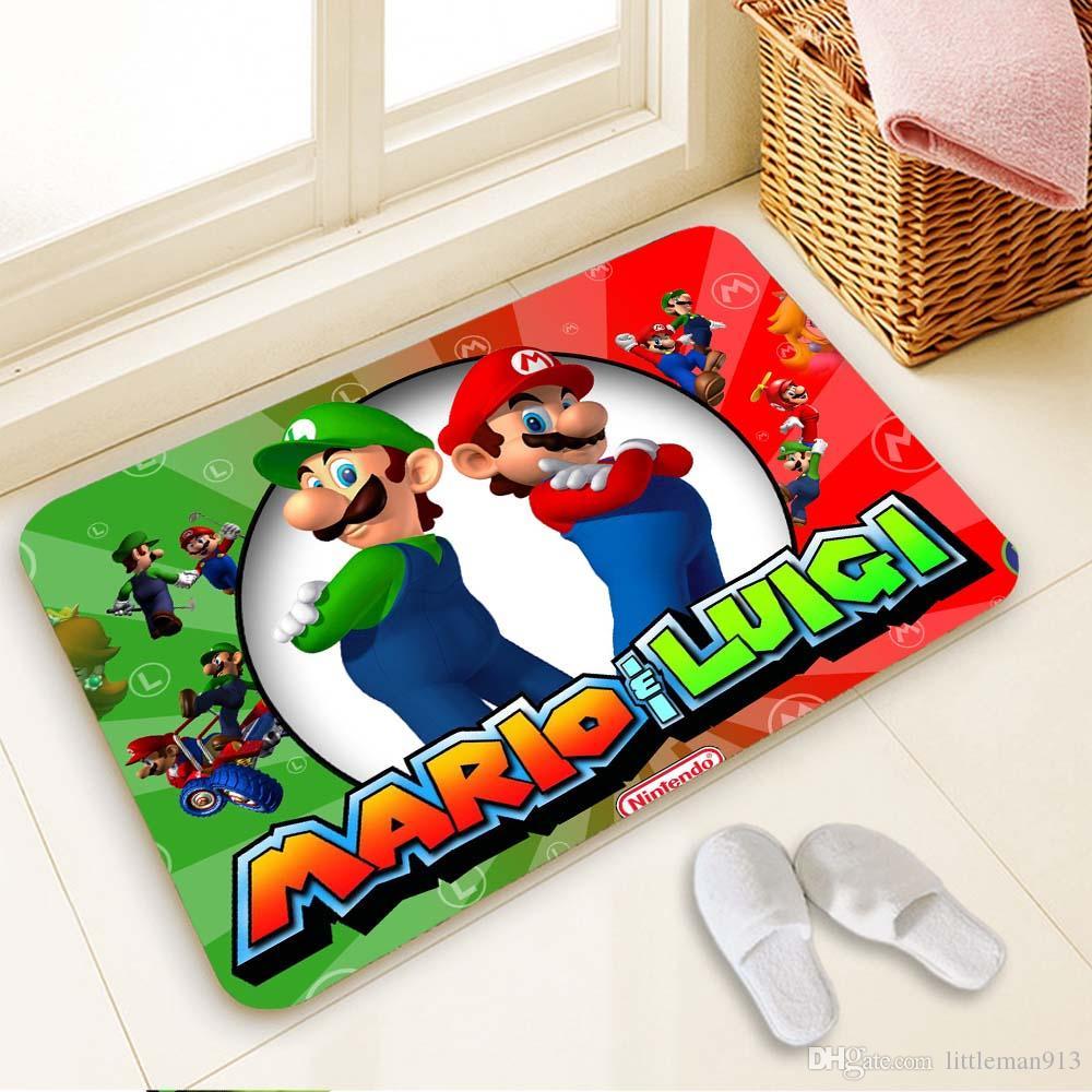 Super Mario Fußmatte Custom Ihre Matten Drucken rutschfeste Fußmatte Boden  Schlafzimmer Wohnzimmer Teppiche 40x60cm 50x80cm