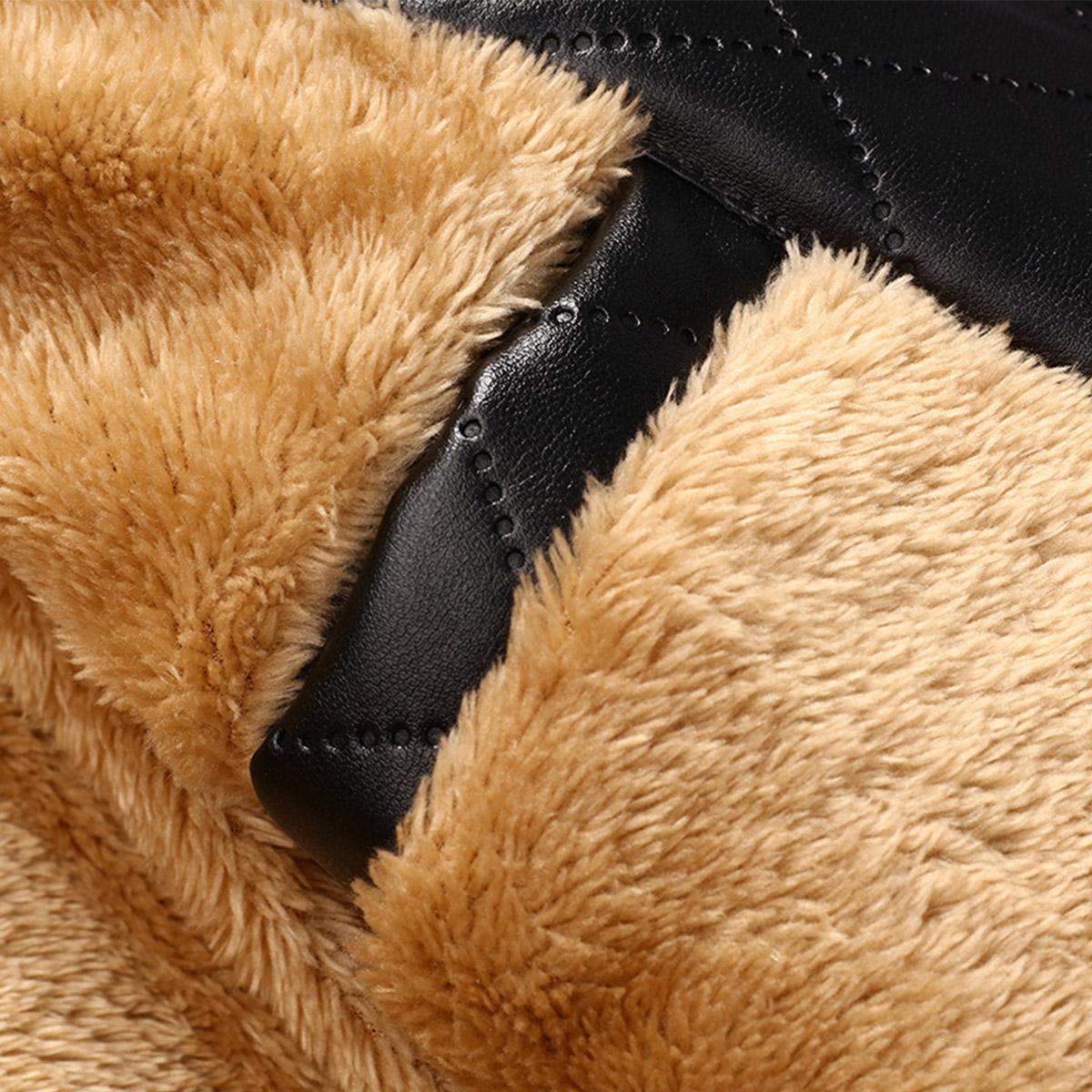 2017 brand new winter warm men's jacket US EUR size Plus cashmere PU coat for men