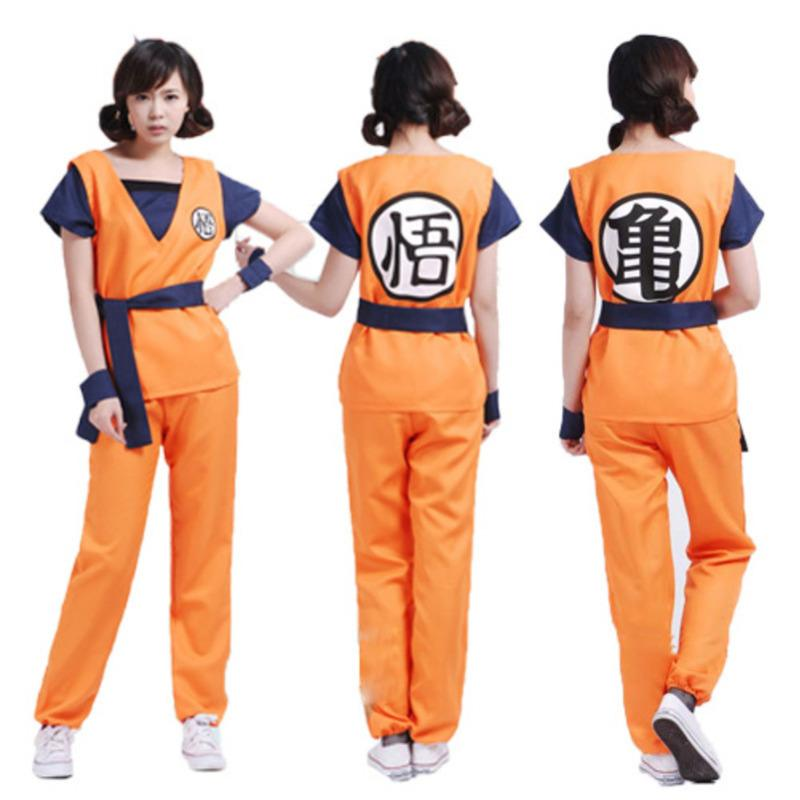 c7892f77 dragon ball z goku Suit clothes son goku halloween costumes for women plus  size adult men sexy fancy dress Cosplay