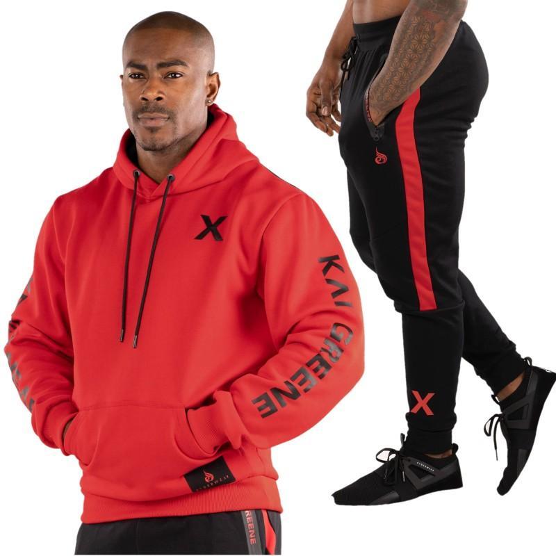034d2c19e78b Acquista Abbigliamento Da Palestra Da Uomo Allenamento Da Uomo Set Da Corsa  Tute Sportive 2 Pezzi Giacca + Pantaloni Survêtement Homme Alta Qualità A  $27.11 ...
