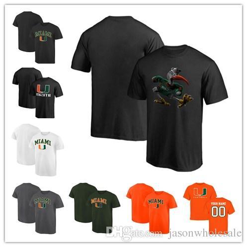 f51cc4f5501 Mens Miami Hurricanes Fanatics Branded Midnight Mascot Campus T-Shir black  grey white orange green size S-XXXL free shipping