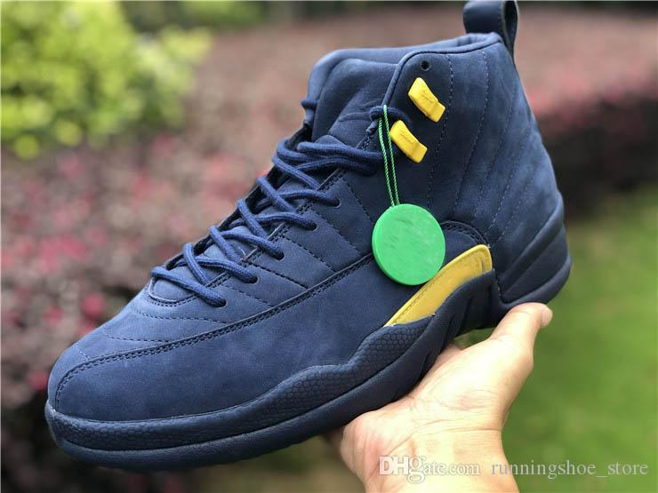 25e87f67c37897 2018 Hottest 12 Rtr Michigan Nrg Michigan X Psny 12s Basketball Shoes For  Men Authentic Real Carbon Fiber Sneakers Bq3180 407 With Box Shoes On Sale  Cheap ...