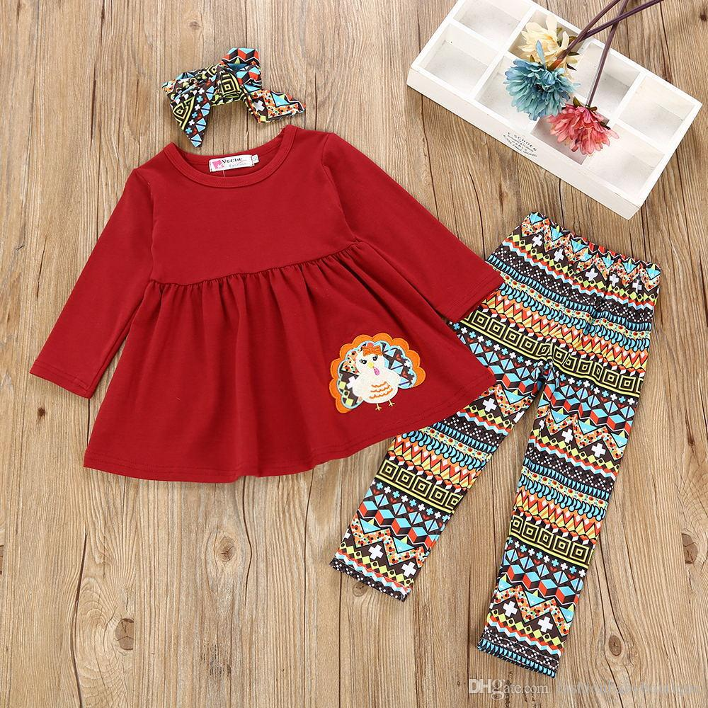 f2d6c696955f 2019 2018 ThanksGiving Day Baby Girl Clothes Suits Children Clothing Sets  CottonToddler Dress Pants Kids Outfits From Fashionbabyboutique, $9.84 |  DHgate.