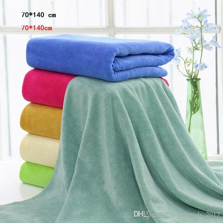 Microfiber Bath Towels Beach Solid Color Bath Washcloth Shower Towel