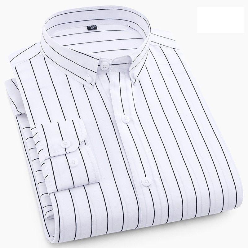 f7ac3a60d04 Uwback 2018 Spring Formal Shirts Men Long Sleeve Striped Plaid ...