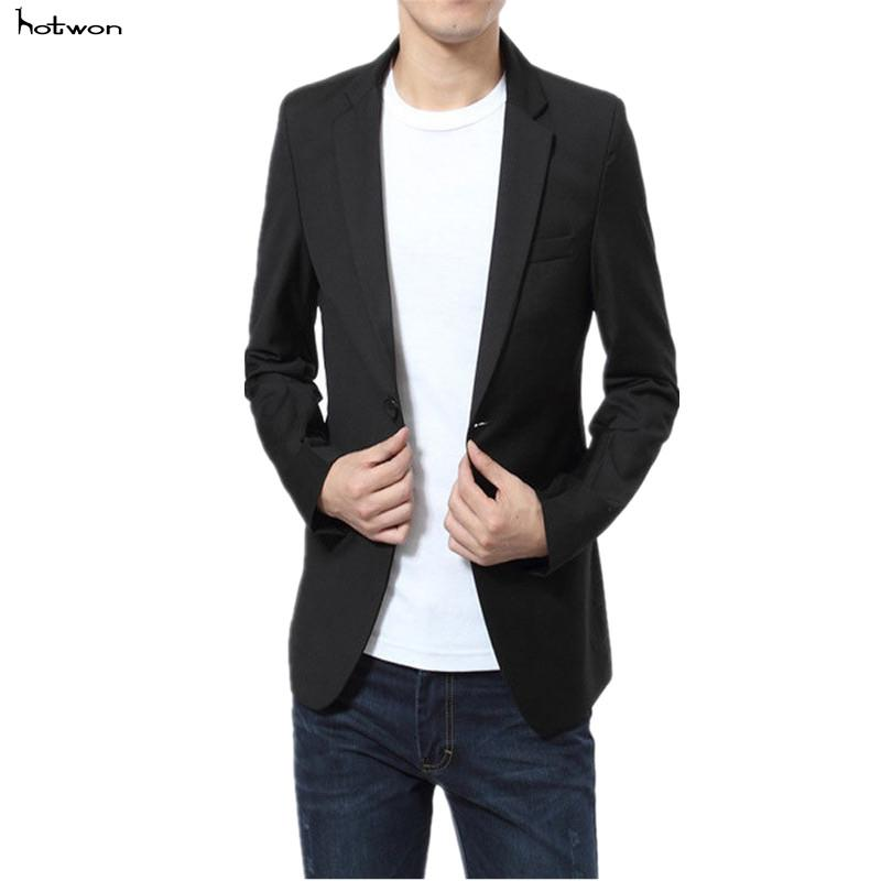 e55dac1e60c 2019 2017 Mens Slim Fit Suit New Casual Stylish Two Button Formal Coat  Jacket Blazers Plus Size From Cacy