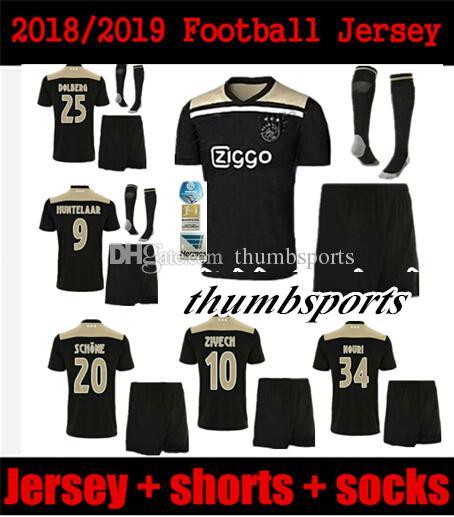 1bf67ce7f02 Ajax Soccer Jersey 18 19 Ajax FC ADULT Kit Jerseys Away KITS 2018 ...