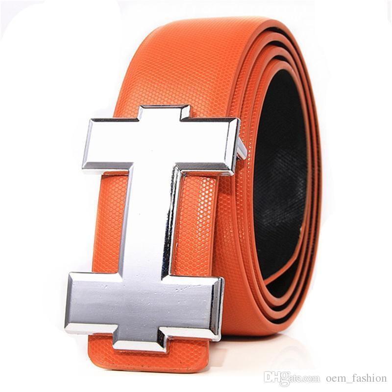 أزياء حزام جلد طبيعي للرجال حزام عالية الجودة H السلس الإبزيم أحزمة الرجال للنساء حزام الجينز البقرة الشريط
