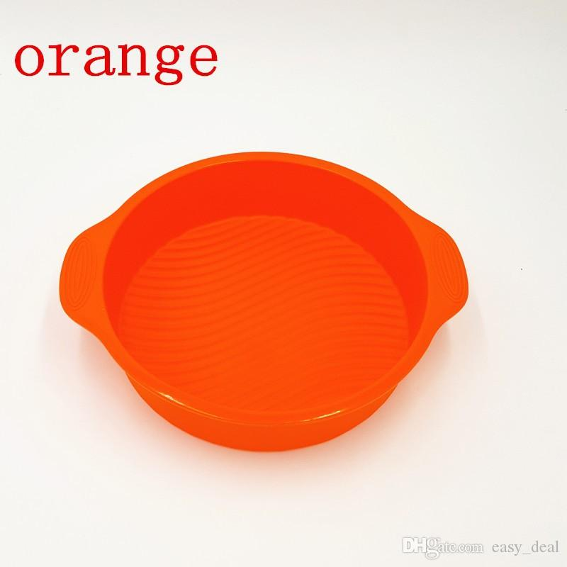 9 inch 28.5*24.5*6.2cm DlY Round Shape 3D Silicone Cake Mold Baking Tools Bakeware Maker Mold Tray Baking ZA5881