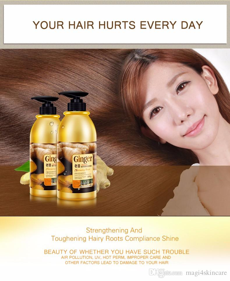 Ginger Shampoo High Quality Plant Extract Oil-control Anti-Dandruff Professional For Women Men Oily Hair 400ML DHL