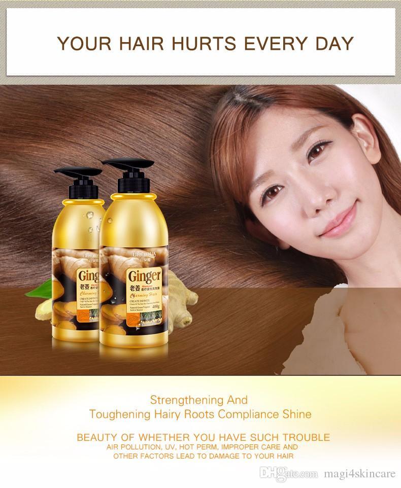 Ginger Shampoo Silicon Free Oil-control Anti-Dandruff For Women Female Unisex Dry Damaged Hair 400ML