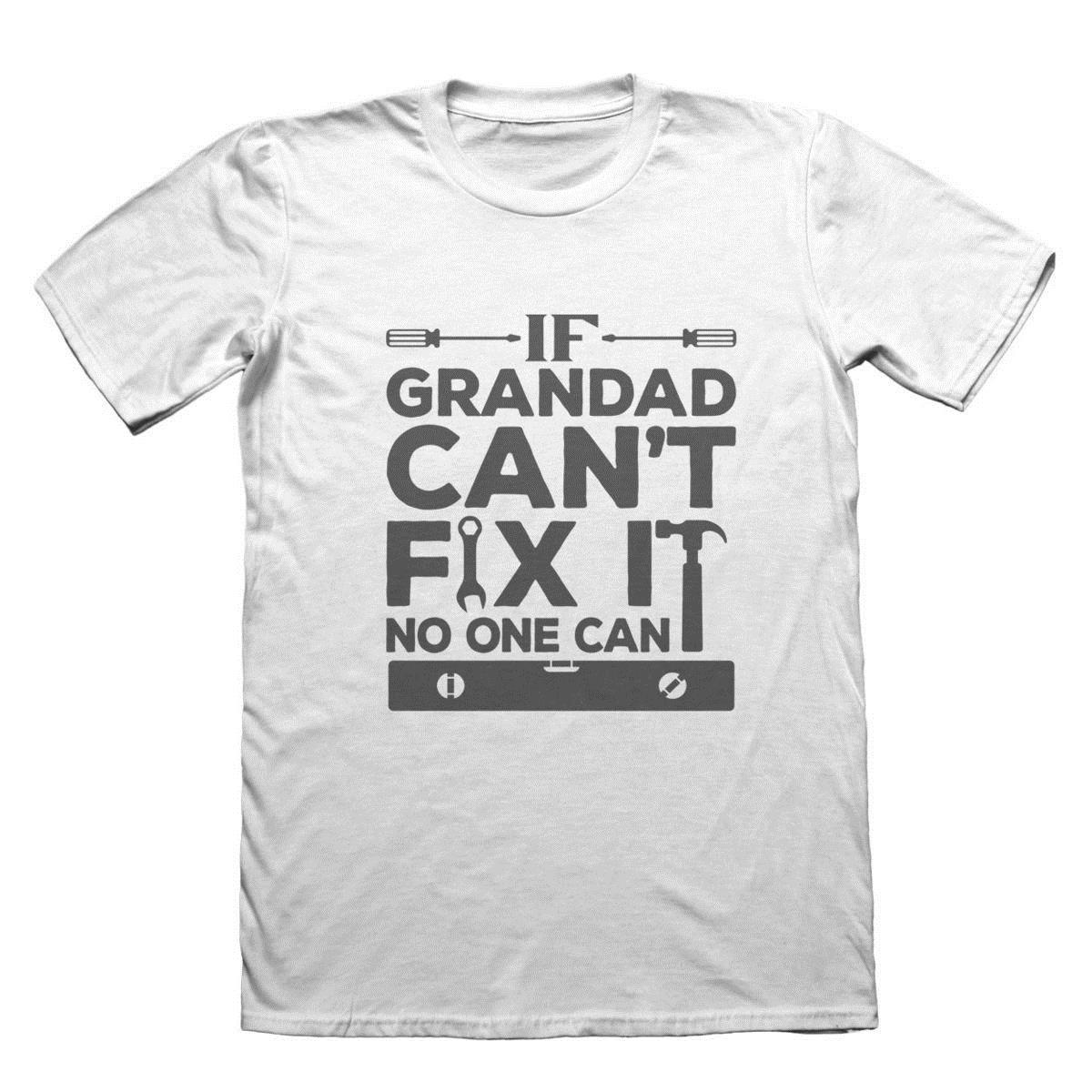 d4896e864 If Grandad Can't Fix It T-Shirt - Grandpa Granddad Funny Gift Top Cool Funny  T-Shirt Men High Quality Tees Tops Male T Shirt Men