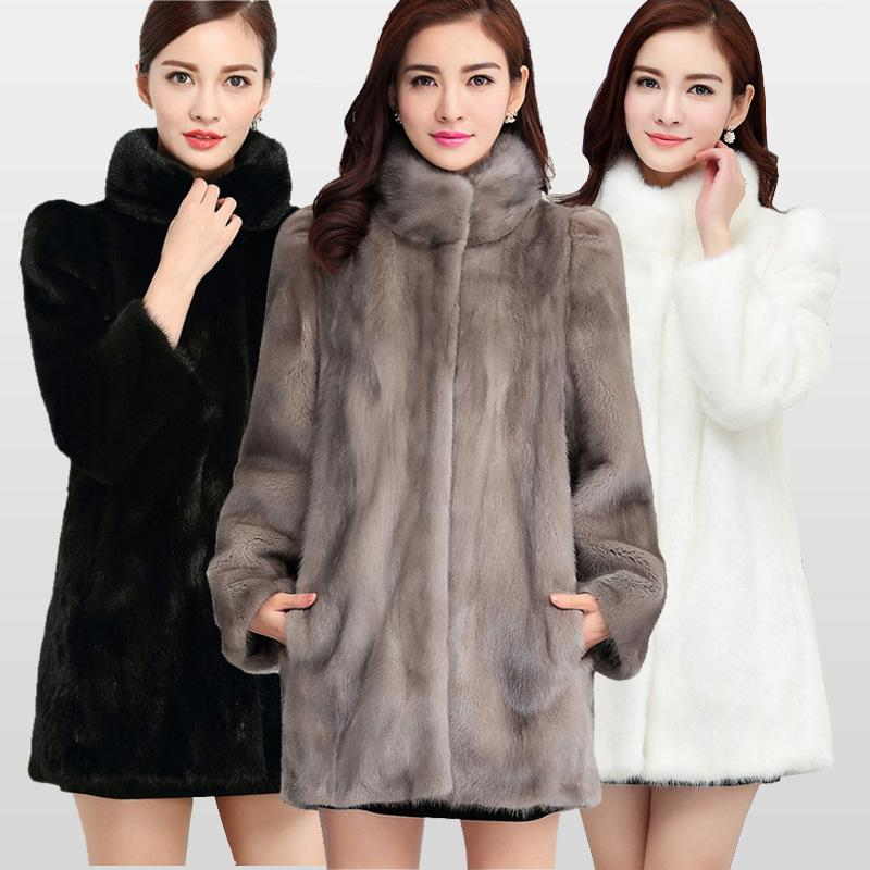 Acquista 2018 New Fashion Reale Piena Pelliccia Di Visone Cappotto Di  Pelliccia Le Donne Inverno Caldo Cappotti Giacca Di Pelliccia Naturale  Grande ... c1f1be52803