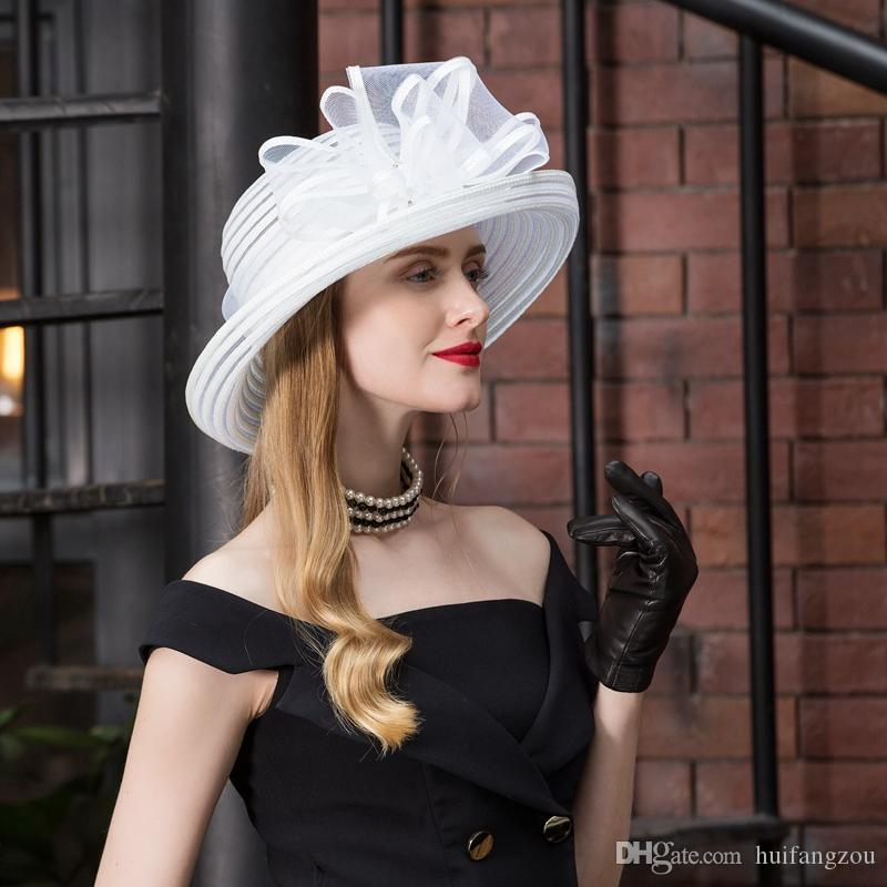 2018 Summer Beach Sun Protection Hat White Women Casual Designer Hats High Quality Bow Design Hat