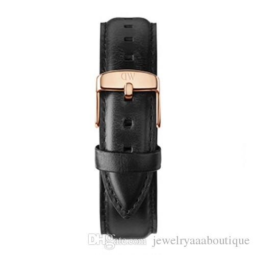 1ca468102ad5 Compre Marca De Reloj Correa De Cuero Cuero Alto Hebilla De Acero  Inoxidable Negro Marrón Hombres 20 Mm Damas 18 Mm Correa Hebilla Accesorios  Al Por Mayor A ...