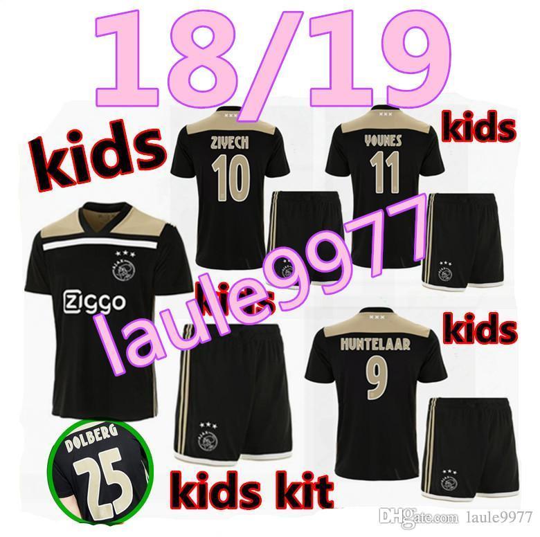 1b20c45df 2019 Thai Quality 2018 2019 Ajax FC Kids Kits+Socks Soccer Jersey 18 19  KLAASSEN FISCHEA BAZOER MILIK Uniforms Shirt Baby Ajax FC Football Jersey  From ...