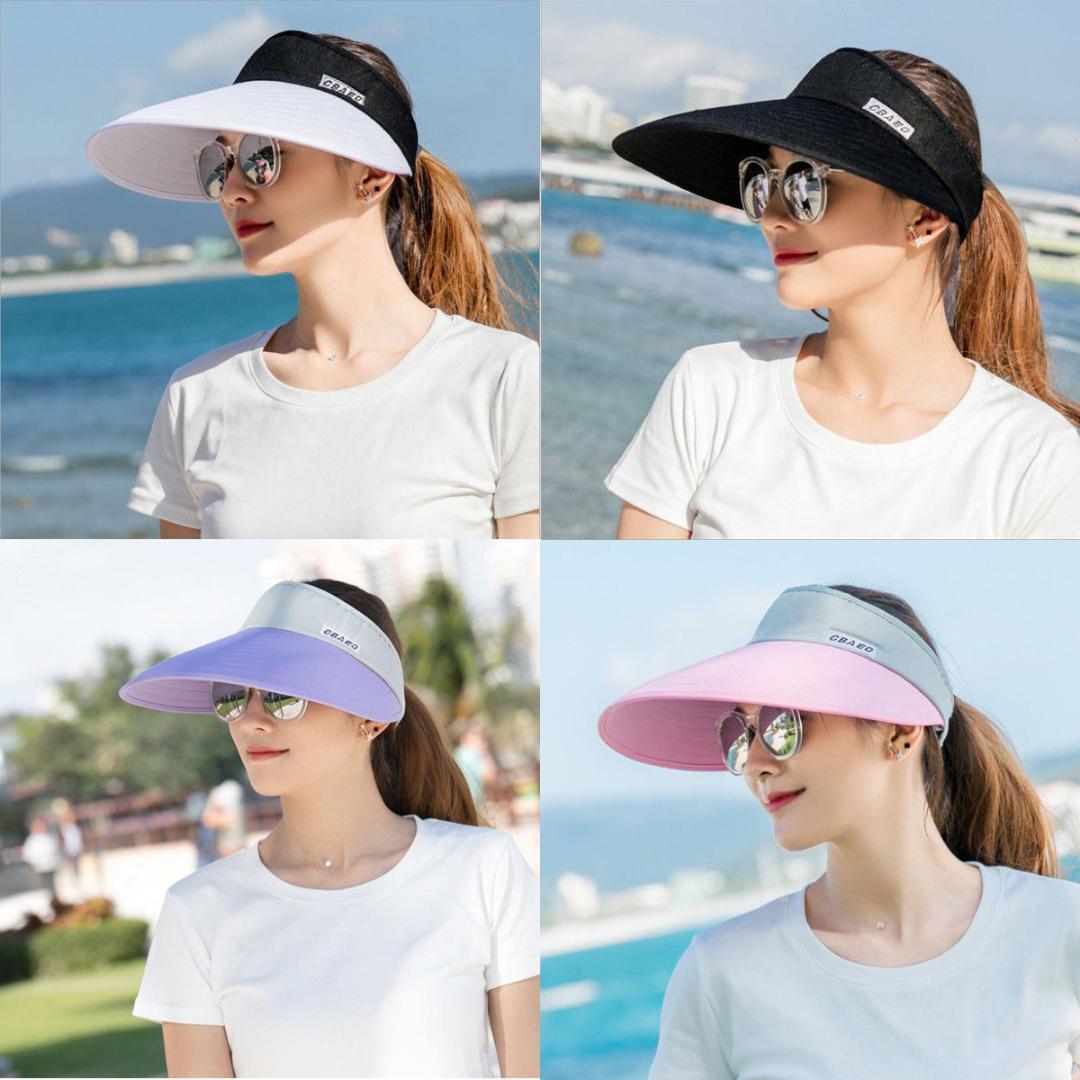 3dd9dafc994 2018 Brand New Women Summer SPF50+ Sports Visor Tennis Cap Golf Cap  Headband Riding Sun Hat Cowboy Hats Pork Pie Hat From Winwin2013