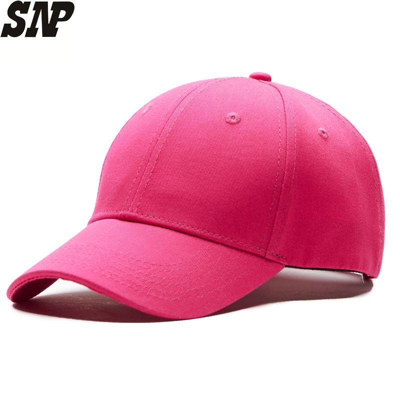 c7e794c45d6741 Solid Color Women's Baseball Cap Casual Snapback Women Hat ...