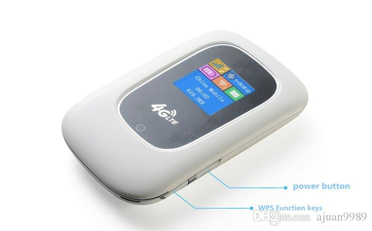 portable Car LTE 4g wireless router line sim card Mobile Hotspot cable  modem 3G 4G WiFi Router wifh 2400mA