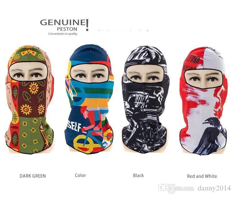 UV-Schutz Fahrrad Radfahren Gesichtsmaske Sport Gesicht Schutzkappe Fahrrad Sturmhaube Masken 3D-Druck CS Maske Taktische Kapuze