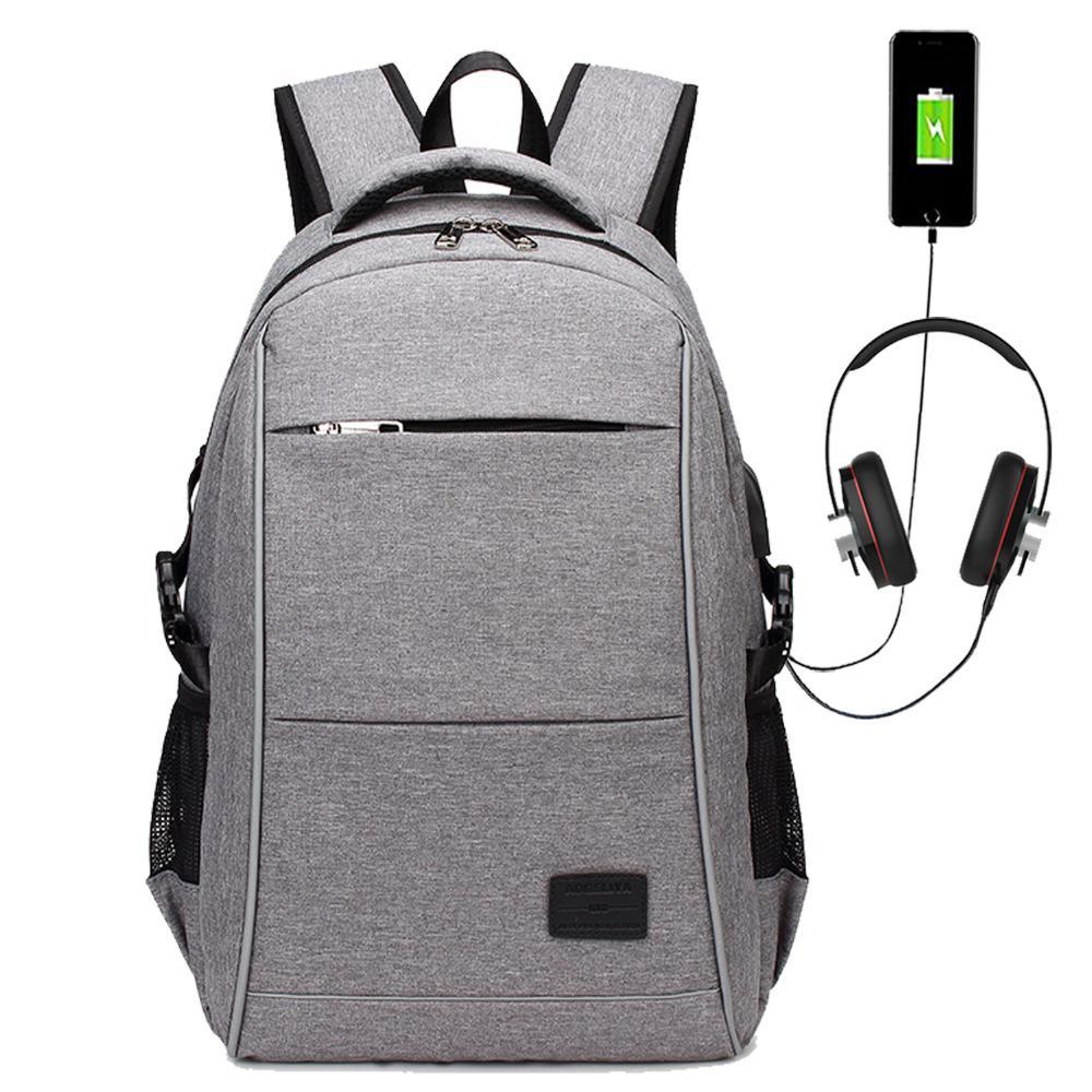 Men's Bags 2019 Mens Usb Charging Backpack 14 15.6 Inch Laptop Bags Male Business Bagpacks Waterproof Multifunctional Travel Backpack