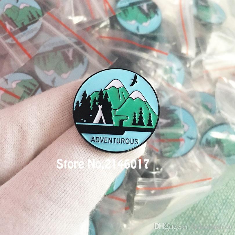 91e2595b9c58 2019 Custom Hiking Lapel Pins Wilderness Explorer Badge Outdoor Camping  Brooch Adventure Awaits Mountain Enamel Pin Adventurous From  Fashionfashion, ...