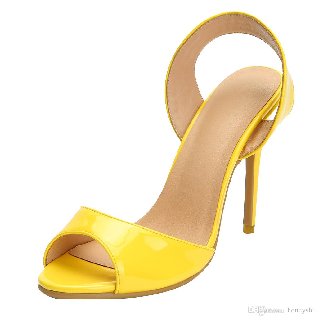 a781169a8e10 Kolnoo Ladies High Heel Sandals Handmade Slingback Open-toe Large ...