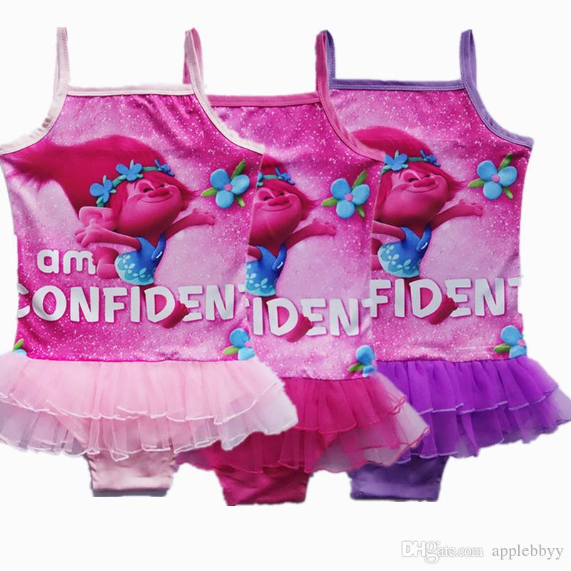 1e5ec7dd62f34 2019 Girls Trolls One Pieces Grenadine Lace Swimsuit New Models Children  Cartoon Troll Sling Baby Cartoon Swimming Suit 8 Style 4~9year From  Applebbyy, ...