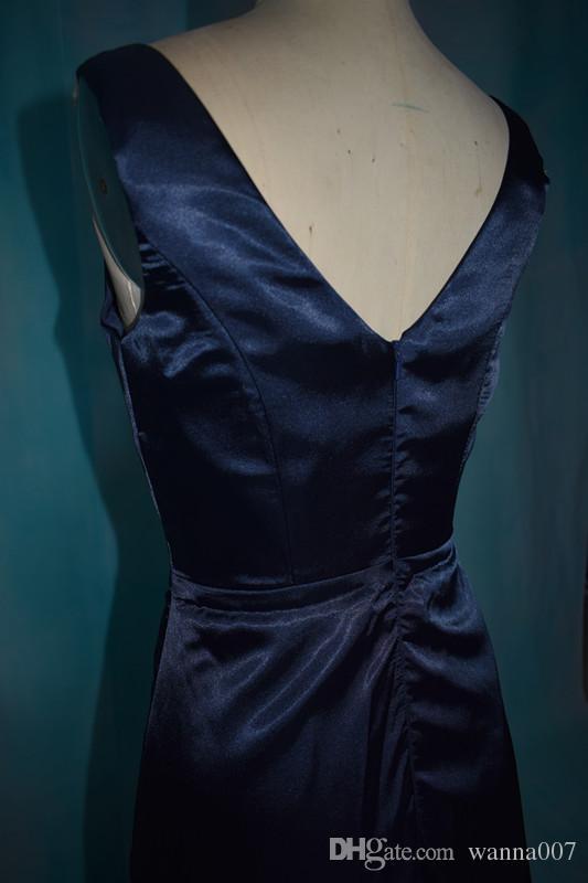 2018 V neck Sheath In Stock Bridesmaid Dresses for Wedding Events Cheap Bridesmaid Dresses Zipper Back