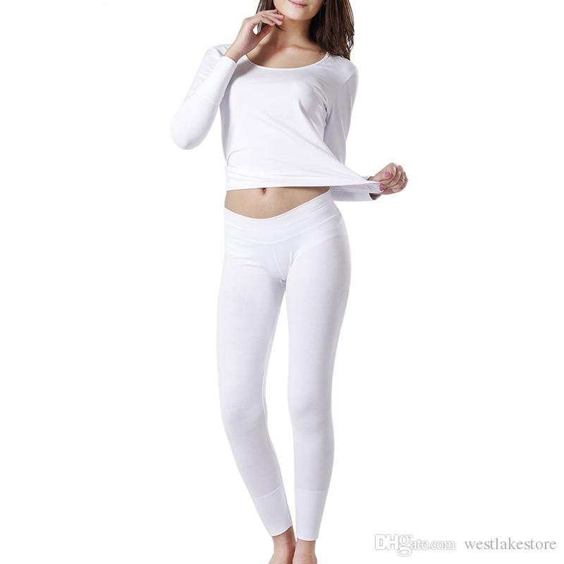 a854d4a20a71d Autumn Winter Women s Thermal Underwear Women Stretch Warm Long ...