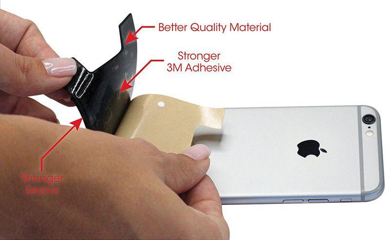 Universal 3M Cola Carteira de Silicone Carteira de Cartão de Crédito Adesivo de Bolso Bolsa Bolsa para Suporte de Telefone iphone 11 Pro Max X XS XR 8 7 6 plus