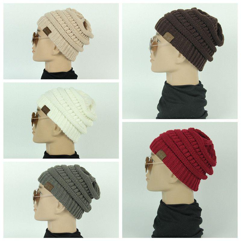 Acquista Cappello Invernale Da Uomo In Maglia Cc Cappellino Cranio