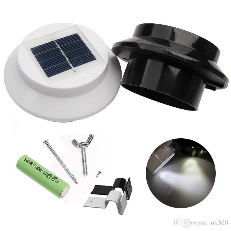 Grosshandel 3led Solar Wandleuchten Edelstahl Solar Garten Licht