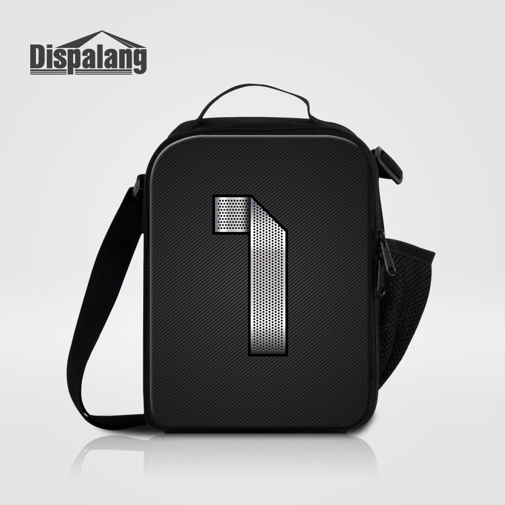 c739af70cc0d Dispalang Personalized Adults Lunch Bag Thermal Lunch Bags For Men Students  School Lunchbox Cooler Insulated Picnic Bag Kid Black Handbags Luxury Bags  From ...