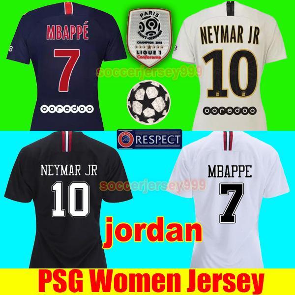 2019 PSG Paris Saint Germain 18 19 MBAPPE NEYMAR JR Women Soccer Jersey 2018  2019 CAVANI Football Shirt VERRATTI DI MARIA Maillot Uniforms From ... 9a33fa69e