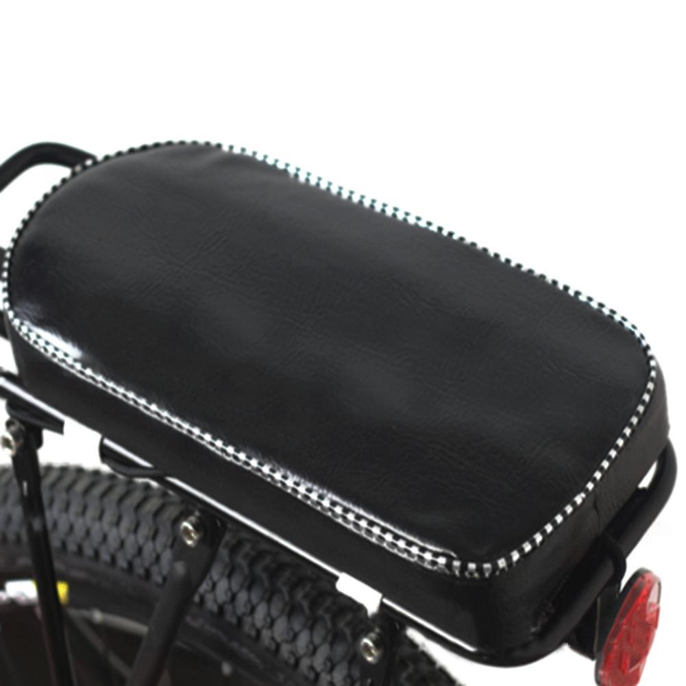 Pu Leather Bicycle Child Rear Seat Cover Bike Back Rack Cushion For Biking Seat With Back Saddle Cycle Accessories Bicicleta