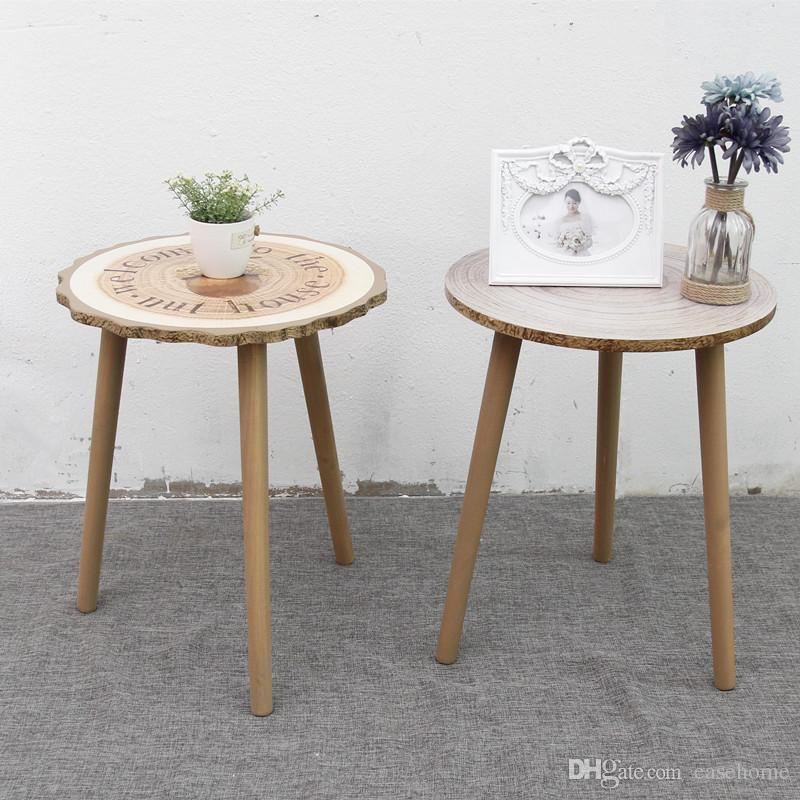 Teapoy Coffee Table Tavolino per soggiorno Camera da letto Mobili in legno  con parole per la decorazione domestica