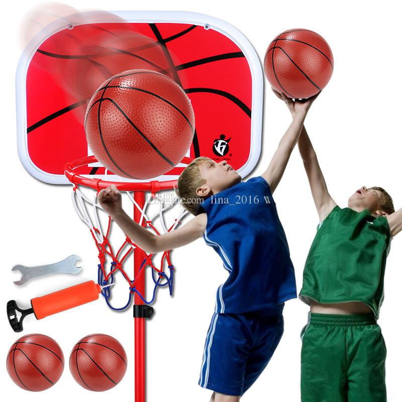 Niños CALIENTES Baloncesto Stand Niños Baloncesto Ajustable Ajustable Deportes Set Kit Envío Gratis