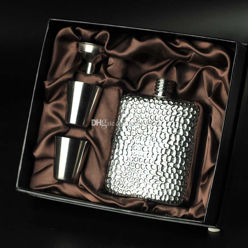 Portable In Acciaio Inox Volcano Grain Style Hip Flask 6 Once Fiaschetta All'aperto Per Gentleman Regalo QW7182