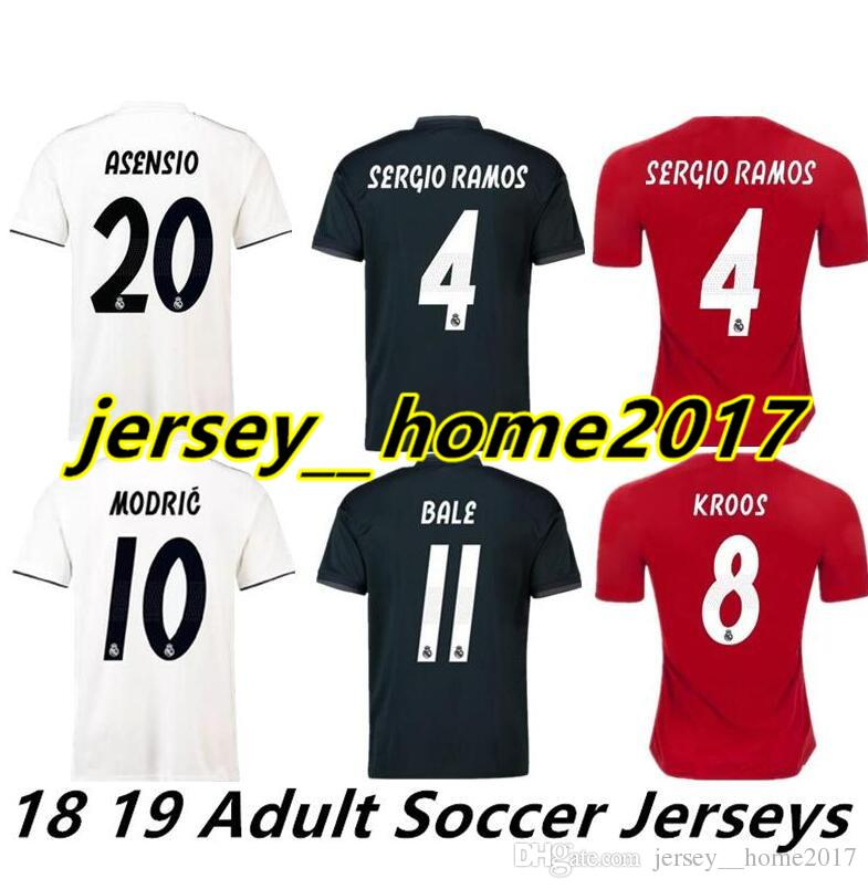 2019 Real Madrid Soccer Jerseys 2019 ASENSIO BALE ISCO RONALDO Soccer  Jersey RAMOS BENZEMA Shirt 2018 Camiseta Real Madrid Football Kit Jerseys  From ... 4918586fe