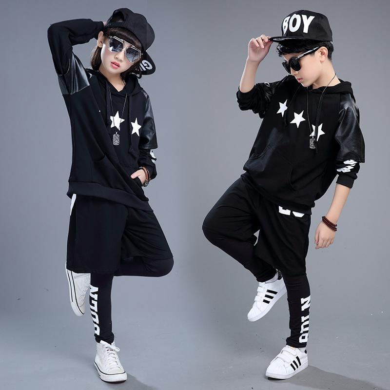 2019 new boys winter hip hop style clothing set girls