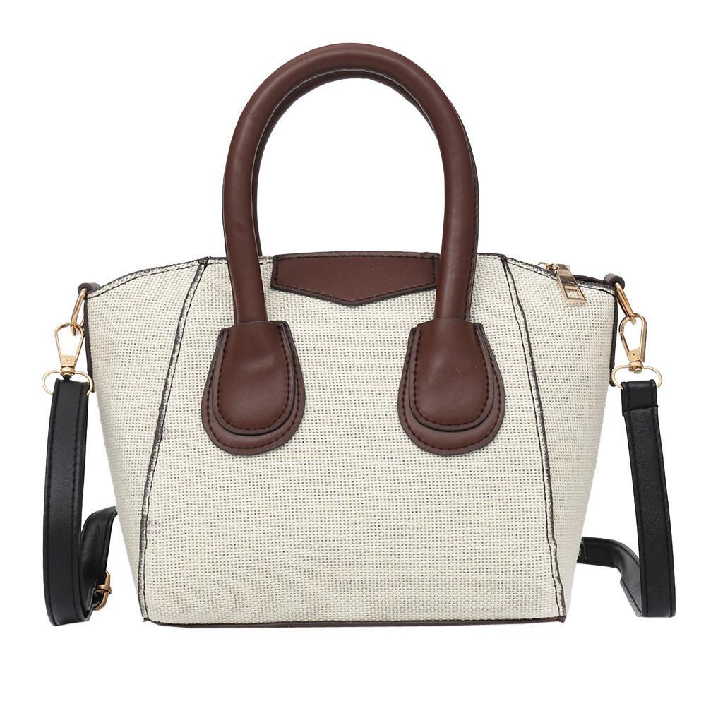 4345d8aeba Vintage Women Shoulder Bag Luxury Handbags Women Bags Designer Linen Zipper Pure  Color Crossbody Bag Women S Handbags Leather Briefcase Wholesale Handbags  ...