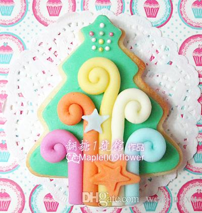 Christmas tree cookie cutter Metal biscuit tool Fruit die cut Sushi stamp sandwich mold baking cake pastry tools cupcake topper