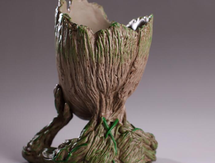 Groot Flower Pot Plant Tree Uomini Fairy Garden Pot Anime Movie Collection Action Figure Model PVC Giocattoli bambini