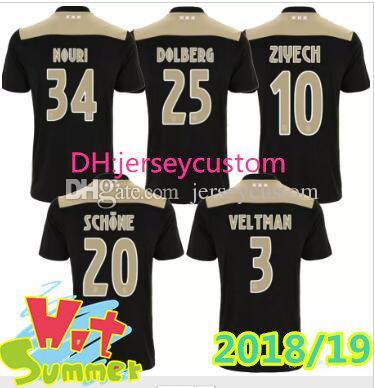 af2502f333 18 19 Nuevo Ajax Home Camiseta De Fútbol KLAASSEN TRAORE MELIK DIJKS EL  GHAZI YOUNES Calidad Tailandesa 2018 2019 Ajax Camisetas De Fútbol Sala Por  ...