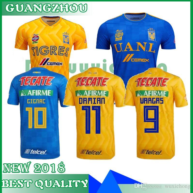 2019 2018 2019 Season Soccer FC Tigres UANL Jersey Men 9 VARGAS 10 GIGNAC  13 VALENCIA MEXICO Club LIGA MX Football Shirt Kits Yellow Size S 2XL From  ... 1d7d414cf