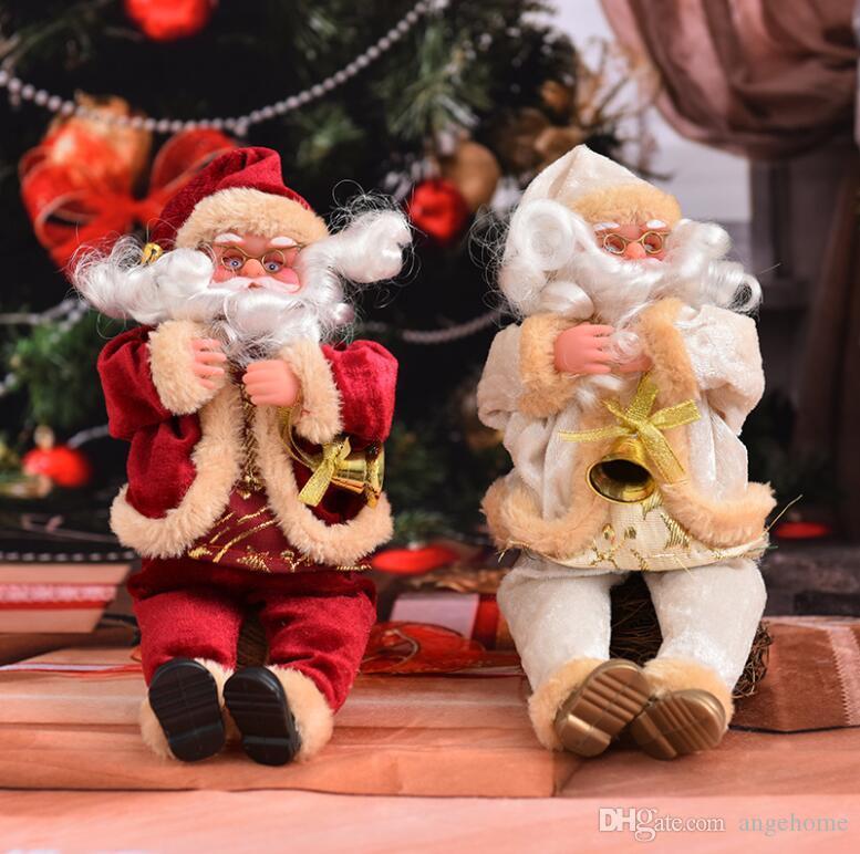 Großhandel Schöne 25 Cm Weihnachten Sitzen Weihnachtsmann Puppe ...
