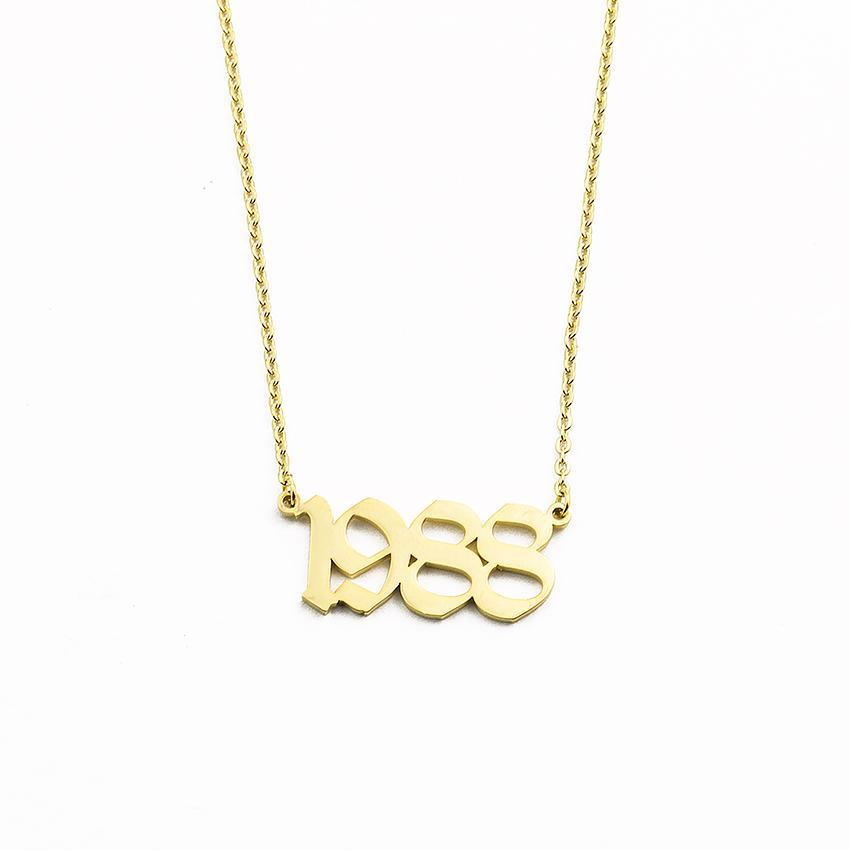 ef962cc8f3a4 Compre Número Personalizado Nombre Collar Joyería Personalizada Collares De  Acero Inoxidable Para Las Mujeres Collar BFF Regalo De Dama De Honor A   18.55 ...