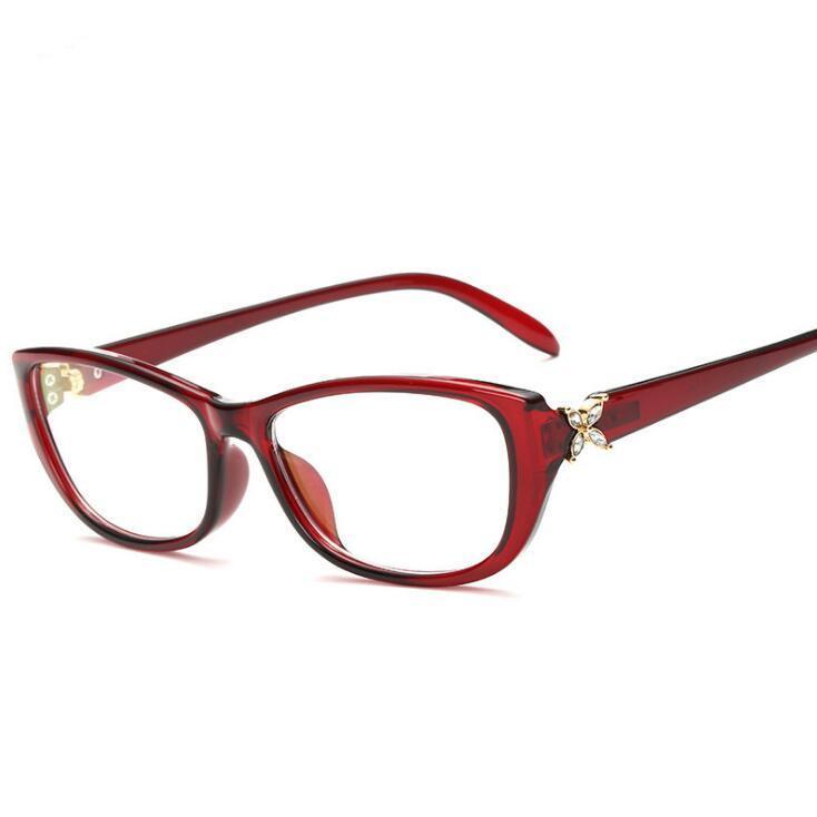 Avec Rouge Marque Beauté Couleur Marron La Femmes Myopie Designer Lunettes Rétro Optique Léopard Clair Cadre rCoWxBde